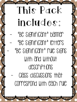 Ron Clark Academy Essential 55 inspired *Be Significant* rules 4