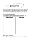 """""""Be The Expert"""" - Multiplication and Division Enrichment Project"""