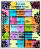 """Be The Nice Kid"" Collaborative Art Poster"