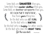 """Be the Nice Kid"" Bryan Skavnak Quote Poster"