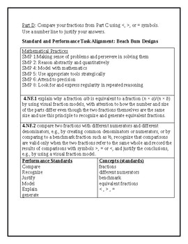 """""""Beach Bum"""" 4th Grade Math Task"""