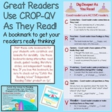 *Beach Themed* Higher Order Thinking Bookmarks {CROP-QV} Dig Deeper As You Read!