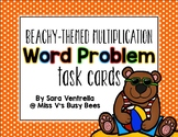 {Beachy} Multiplication Word Problem Task Cards