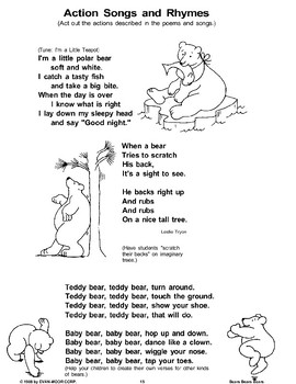 (Bear) Action Songs and Rhymes