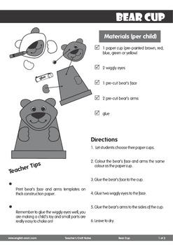 # Bear Cup Craft