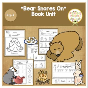 """Bear Snores On"" Book Unit- No Prep"