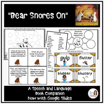 """""""Bear Snores On"""" Speech and Language Book Companion"""