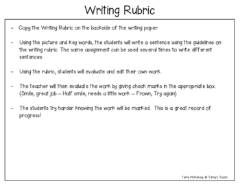 """""""Bear Snores On"""" Writing Paper and Rubric"""