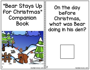 """""""Bear Stays Up for Christmas"""" Companion Pack: A Story Retelling Guide"""