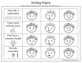 """Bear Stays Up for Christmas"" Writing Paper and Rubric"