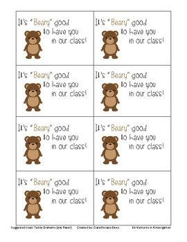 """Beary"" Good Treat Tags"