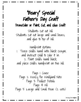 """Father's Day Craft: """"Beary"""" Special"""