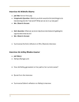 """Roadtrip Nation """"Beating the Odds"""" - Note Taking Guide"""