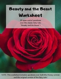 """""""Beauty and the Beast"""": Worksheet"""
