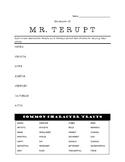 """Because of Mr. Terupt"" reading guide"
