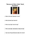 """Because of Winn Dixie"" Book Questions"