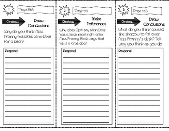 """""""Because of Winn-Dixie"""" Comprehension Trifold (Storytown Lesson 21)"""