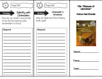 """Because of Winn-Dixie"" Comprehension Trifold (Storytown L"