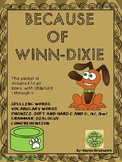 """Because of Winn-Dixie"" Unit for Chapters 1-4"