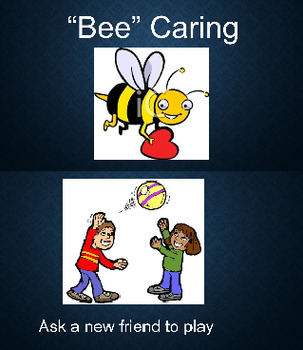 """""""Bee"""" Caring PBIS Monthly Character Trait PowerPoint"""