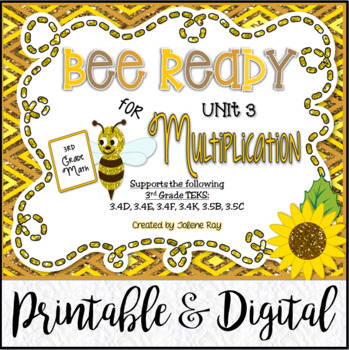 """Bee"" Ready for Multiplication (3rd Grade TEKS-based Unit 3)"