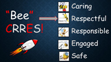 """""""Bee"""" Respectful PBIS Monthly Character Trait PowerPoint"""