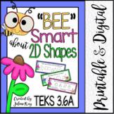 """Bee"" Smart about 2D Shapes: TEKS 3.6a"