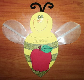 """Bee-utiful Bee-cause"" Writing Prompt Crafts for BTS, End of Year & Mother's Day"