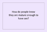 """""""Before You Have Sex"""" Discussion Cards"""