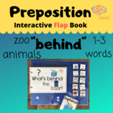 BEHIND Interactive FLAP Book + Simplified Sentence, Zoo An