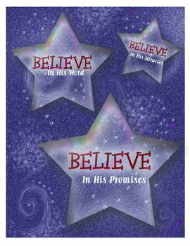 """""""Believe"""" Motivational Christian signs for the classroom or home"""