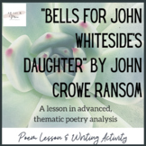 Bells for John Whiteside's Daughter Poem Study