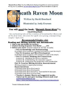 """Beneath Raven Moon"" by David Bouchard. Reading & Writing Skills"