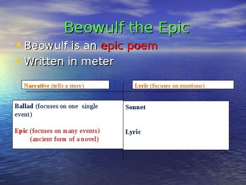 """Beowulf"" Power Point Notes"
