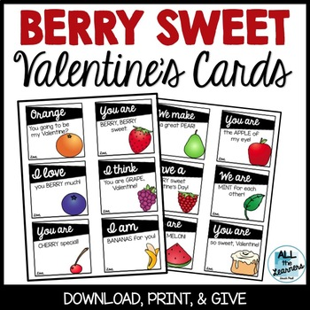 """""""Berry"""" Sweet Valentine's Cards"""