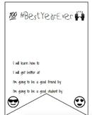 #BestYearEver Emoji Goal Setting Bunting Banner