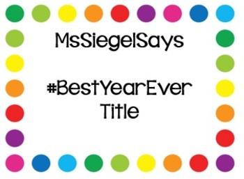 #BestYearEver Title