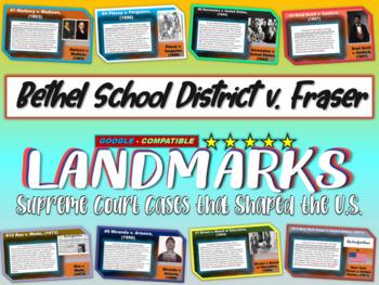 -Bethel School District v Fraser- Landmark Cases - (PPT, handouts & more)