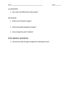 """Between the Folds"" documentary companion worksheet"