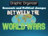 """Economic and Political Changes """"Between the World Wars"""" Graphic Organizer"""