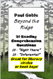 """Beyond the Ridge"" by Paul Goble; reading comprehension questions"
