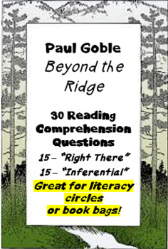 """""""Beyond the Ridge"""" by Paul Goble; reading comprehension questions"""