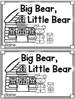 """Big Bear, Little Bear"" (Opposites Emergent Reader Dollar Deal)"