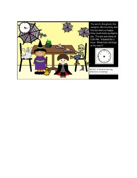 """Fun with Time:  """"Big Pumpkin"""" Elapsed Time Halloween Activity"""