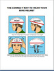 """""""Bike Safety"""" lesson, large scale image of safety rules, 4 activities"""