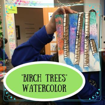 """Birch Trees"" Watercolor"