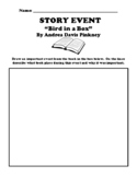 """""""Bird in a Box"""" By Andrea Davis Pinkney EVENT DRAWING UDL WORKSHEET"""