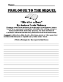 """""""Bird in a Box"""" By Andrea Davis Pinkney PROLOGUE UDL WORKSHEET"""