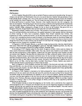"""Birdsong"" by Sebastian Faulks: A Study Guide"