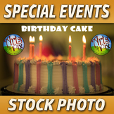 """Birthday Cake"" - Stock Photo - Cake with Candles - Photograph"